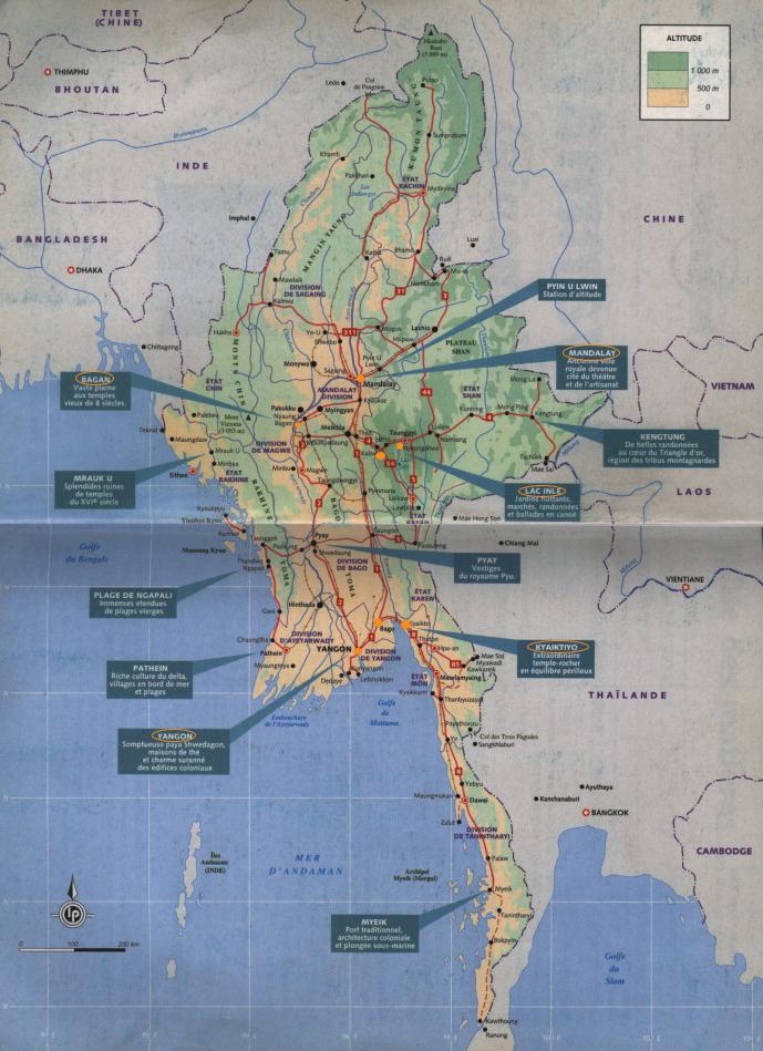 Birmanie Carte Regions.Birmanie Carte Touristique Ap86 Jornalagora